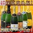 【送料無料】第55弾!ベスト・オブ・スパーク!京橋ワイン厳選!高級クレマンも入った極旨泡ばかりの辛口スパークリングワイン6本セット!