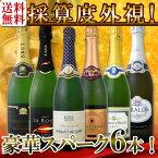 【送料無料】第61弾!ベスト・オブ・スパーク!京橋ワイン厳選!高級クレマンも入った極旨泡ばかりの辛口スパークリングワイン6本セット!
