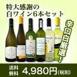 【送料無料】第58弾!採算度外視の謝恩企画!京橋ワイン厳選!特大感謝の大満足白ワイン6本セット!