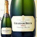 [クーポンで7%OFF]スパークリングワイン 白 グラハム・ベック・ブリュット・NV【南アフリカ共和国】【白スパークリングワイン】【750ml】【辛口】【Graham Beck】