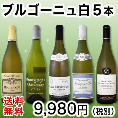 【送料無料】20セット限り★特大感謝のブルゴーニュ白ワイン大放出5本セット!!