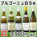 【送料無料】特大感謝の厳選ブルゴーニュ白ワイン5本セット!!
