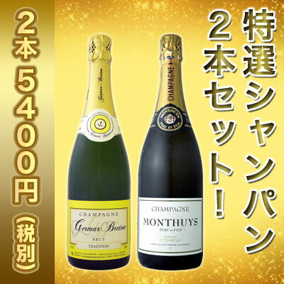 【送料無料】第17弾!豪華絢爛!ご愛顧に大感謝!!数量限定!特選シャンパン2本セット!