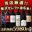 【送料無料】第43弾!京橋ワイン厳選!これぞ極旨赤ワイン!『大満足!充実の飲み応え!』贅沢なスーパー・セレクト赤6本セット!