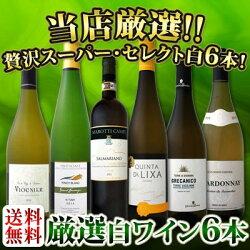 【送料無料】第57弾!京橋ワイン厳選!これぞ極旨辛口白ワイン!『白ワインを存分に楽しむ!』味わい深いスーパー・セレクト白6本セット!