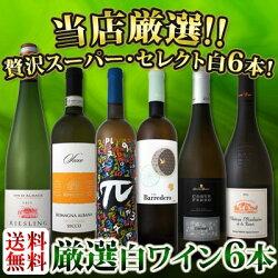 【送料無料】第58弾!京橋ワイン厳選!これぞ極旨辛口白ワイン!『白ワインを存分に楽しむ!』味わい深いスーパー・セレクト白6本セット!