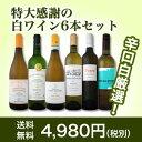 【送料無料】第80弾!採算度外視の謝恩企画!京橋ワイン厳選!特大感謝の大満足白ワイン6本セット!|辛