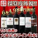 【送料無料】第82弾!採算度外視の謝恩企画!京橋ワイン厳選!特大感謝の大満足赤ワイン6本セット!!|還暦祝い ワインセット