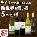 [クーポンで最大2,000円OFF]【送料無料】新世界満喫セット第6弾!とにかくコスパの高いワインを集めたスタッフ厳選5本セット!