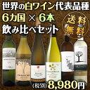 [クーポンで最大2,000円OFF]【送料無料】白ワイン好きの皆様!世界各地の代表品種を飲み比べる6本セット!