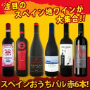 【送料無料】スペイン全土の地ワイン満喫!スペインおうちバル赤ワイン6本セット!