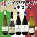 【送料無料】≪バラエティ豊かな個性を満喫!≫北イタリアワイン5本セット!