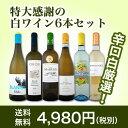 【送料無料】第87弾!採算度外視の謝恩企画!京橋ワイン厳選!特大感謝の大満足白ワイン6本セット!|辛