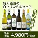 【送料無料】第92弾!採算度外視の謝恩企画!京橋ワイン厳選!特大感謝の大満足白ワイン6本セット!|辛