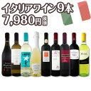 [クーポンで最大2,000円OFF]【送料無料】端数在庫一掃★イタリアワイン9本セット!