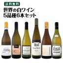 [1,500円以上で送料無料]【送料無料】世界の白ワイン・オンパレード!毎日飲んでも飲み飽きない5品種6本セット!
