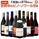 【送料無料】ピノ・ノワール三昧9本セット!世界中のピノ・ノワール赤ワインだけをセ