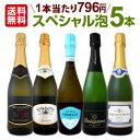 【送料無料】得々泡セット!当店厳選!お手頃スパークリングワイン5本セット!