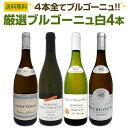 【送料無料】厳選ブルゴーニュ白ワイン4本セット!!