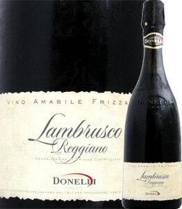 ドネリ・ランブルスコ・レッジャーノ・アマービレ スカリエッティ・ボトル イタリア ミディアムボディ スパーク