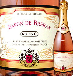バロン・ド・ブルバン・ブリュット・ロゼ フランス ロゼスパークリングワイン スパーク ぶどう酒 プレゼント クリスマス パーティー