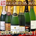 【送料無料】第44弾!ベスト・オブ・スパーク!京橋ワイン厳選!高級クレマンも入った極旨泡ばかりの辛口スパークリングワイン6本セット!