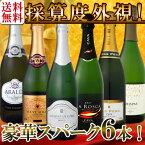 【クーポン配布中】【送料無料】第49弾!ベスト・オブ・スパーク!京橋ワイン厳選!高級クレマンも入った極旨泡ばかりの辛口スパークリングワイン6本セット!