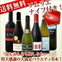 [クーポンで最大2,000円OFF]【送料無料】第3弾!≪ソムリエナイフ付き≫1本当たり830円(税別)!『スパークリングワインも赤ワインも白ワインも楽しみたい!』特大感謝の大満足バラエティ6本セット!