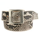 Belt men real leather snakeskin thick extremely-thick 45mm KC,s Kay chinquapin : Garrison belt [python]