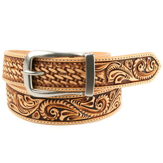 38 Mm belts men's leather KC, s ケイシイズ: leather belt Odessa crafts & baskets