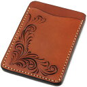 Pass case pass holder men leather leather KC,s Kay chinquapin : Pass case #1-free cut [almond]
