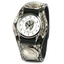 Watch men snakeskin leather leather KC,s Kay chinquapin  3 leather breath watch conchos [python]