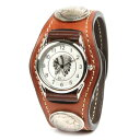 Watch men leather leather KC,s Kay chinquapin  3 leather breath watch concho cordovan leather [brown]