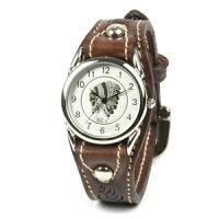 腕時計メンズ革レザーKC,sケイシイズ:レザーブレスウォッチカクタスフリーカットのポイント対象リンク