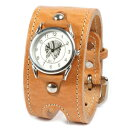 Watch men leather leather KC,s Kay chinquapin : Leather breath watch W buckle [the tongue]