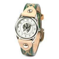 腕時計メンズ革レザーKC,sケイシイズ:レザーブレスウォッチハンドスタンプバックルメンズのポイント対象リンク