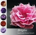 フェルトでできた花びらコサージュBrigite/フェルトブローチ/コサージュ