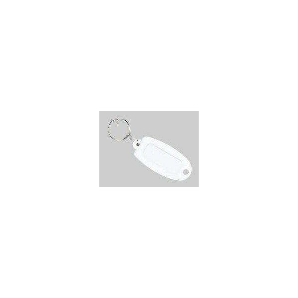 【大一鋼業】キーホルダー付名札【白】 マーキー単色の商品画像