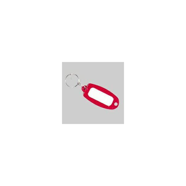 【大一鋼業】キーホルダー付名札【赤】 マーキー単色の商品画像