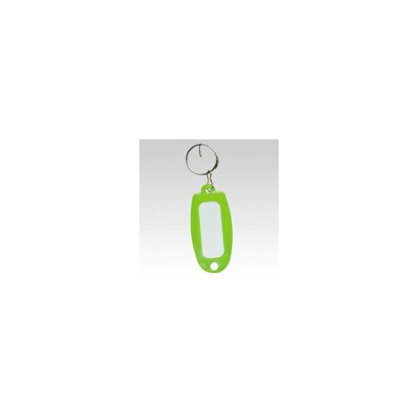 【大一鋼業】キーホルダー付名札【黄緑】 マーキー単色の商品画像