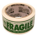 PRINTED PACKING TAPE(カートンテープ)【FRAGILE】 PPT-5【あす楽対応】