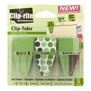 【Clip rite / クリップライト】Clip Tabs /  クリップタブ S メトロコレクション【グリーン】 CRT-024 【あす楽対応】