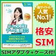 【最短120分で発送】 U-mobile データ使い放題 SIMカード WEB限定パッケージ 事務手数料3,240円込【SIMアダプタ+SIMケース付き】 U-mobile SIM U-mobile SIMフリー U-mobile LTE 標準SIM マイクロSIM ナノSIM