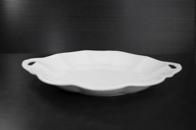 ホワイトハンドル付フラワー21.7cmトレイ皿...の紹介画像3