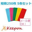 短冊250枚 5色セット (メール便可能)七夕/たなばた/折...