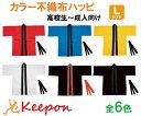 カラー不織布ハッピ 帯付 高校生〜大人向きLサイズ〜6色からお選びください無地/ア