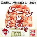 【九州産・国産】豚コマ切り落とし1.5kg(500g×3パック)豚小間/こま切れ/切落とし/冷凍/豚肉/
