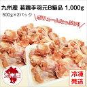 【九州産・国産】若鶏手羽元B級品1kg (500g×2パック)とり肉/訳あり/ワケあり/キズ有り/冷凍/テバ/
