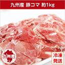 【九州産・国産】豚コマ切り落とし約1kg(500g×2P) 豚小間/こま切れ/切落とし/冷凍/豚肉/