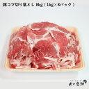 ギフト 送料無料 肉 国産・九州産 豚コマ切り落とし 8k ( 1kg×8パック ) 豚小間 こま